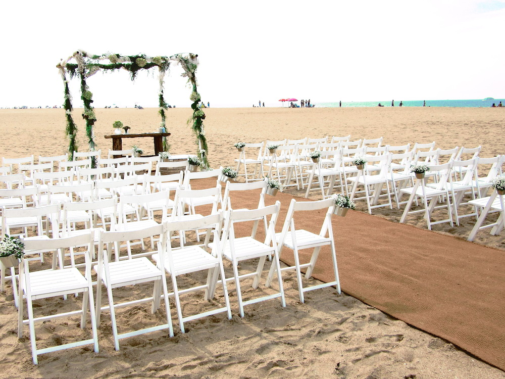 Essentially beach wedding
